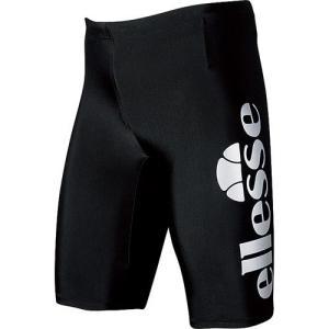 エレッセ(ellesse) メンズボックス4分丈 ブラック/シルバー EN87190 KV メンズフィットネス水着 男性用|esports