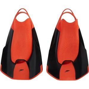 スピード(speedo) ファストスキン キックフィン ブラック×レッド SD97A22 KR 水泳練習用具 トレーニング用品|esports