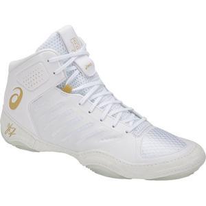 アシックス(asics) メンズ レディース レスリングシューズ JB エリート III/JB ELITE IIIJ702N (100)ホワイト×リッチゴールド レスリング シューズ 靴