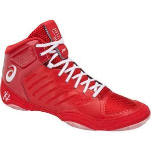 アシックス(asics) メンズ レディース レスリングシューズ JB エリート III/JB ELITE IIIJ702N (600)クラシックレッド/ホワイト レスリング シューズ 靴