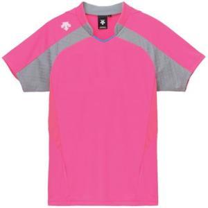 デサント(DESCENTE) レディースゲ−ムシャツ DSS-4126W PPK 女性用 バレーボール ウェア 半袖 ユニフォーム|esports