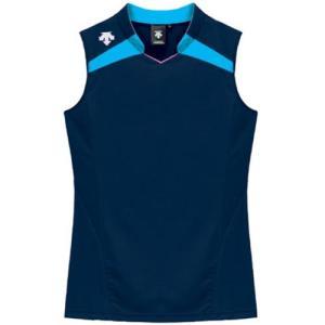 デサント(DESCENTE) レディースゲ−ムシャツ DSS-4136W NVY 女性用 バレーボール ウェア 半袖 ユニフォーム esports