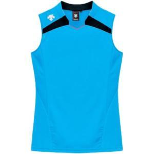 デサント(DESCENTE) レディースゲ−ムシャツ DSS-4136W PBL 女性用 バレーボール ウェア 半袖 ユニフォーム|esports