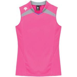 デサント(DESCENTE) レディースゲ−ムシャツ DSS-4136W PPK 女性用 バレーボール ウェア 半袖 ユニフォーム|esports