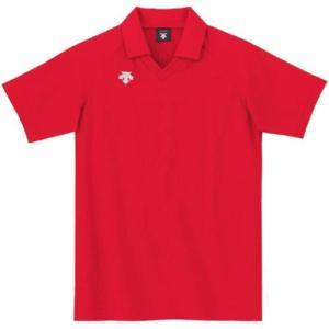 デサント(DESCENTE) 半袖ゲ−ムシャツ DSS-4320 RED バレーボール ウェア 半袖 ユニフォーム|esports