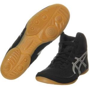 アシックス(asics) レスリングシューズ マットフレックス5 TWR333 9093 ブラック×シルバー レスリング シューズ 靴|esports