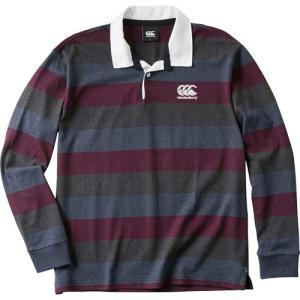 カンタベリー(canterbury) ロングスリーブ ラガーシャツ L/S RUGGER SHIRT マルーン RA48590 69 長袖 シャツ トレーニング プラクティス