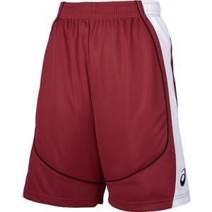 アシックス(asics) ゲームパンツ XB1860 Sレッド×ホワイト バスケットボール メンズ トレーニングウェア バスパン