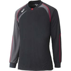 アシックス(asics) ゲームシャツLS XW1319 ブラック×カーボン バレーボール ジュニア トレーニングウェア 長袖|esports