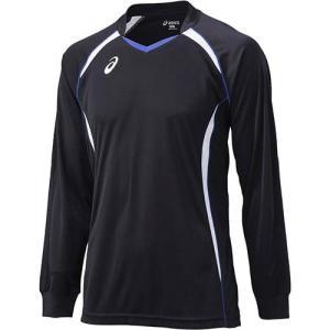 アシックス(asics) ゲームシャツLS XW1320 ブラック×ホワイト バレーボール ジュニア トレーニングウェア 長袖|esports