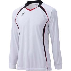 アシックス(asics) ゲームシャツLS XW1320 ホワイト×ブラック バレーボール ジュニア トレーニングウェア 長袖|esports