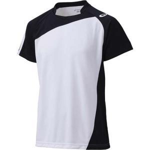 アシックス(asics) ゲームシャツHS XW1321 ホワイト×ブラック バレーボール トレーニングウェア 半袖|esports