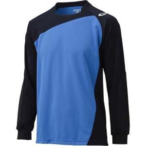 アシックス(asics) ゲームシャツLS XW1322 Iブルー×ブラック バレーボール トレーニングウェア 長袖|esports