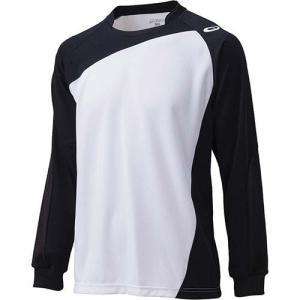 アシックス(asics) ゲームシャツLS XW1322 ホワイト×ブラック バレーボール トレーニングウェア 長袖|esports