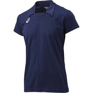 アシックス(asics) ゲームシャツHS XW1323 ネイビー バレーボール トレーニングウェア 半袖|esports