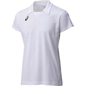 アシックス(asics) ゲームシャツHS XW1323 ホワイト×ホワイト バレーボール トレーニングウェア 半袖|esports