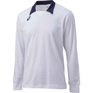 アシックス(asics) ゲームシャツLS XW1324 ホワイト×ネイビー バレーボール トレーニングウェア 長袖|esports
