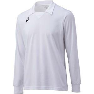 アシックス(asics) ゲームシャツLS XW1324 ホワイト×ホワイト バレーボール トレーニングウェア 長袖|esports