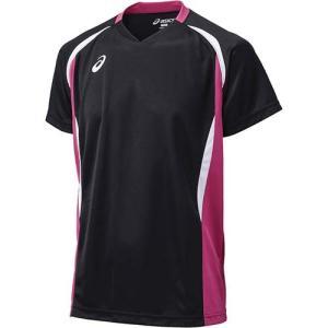 アシックス(asics) ゲームシャツHS XW1325 ブラック×ベリー バレーボール ジュニア トレーニングウェア 半袖|esports