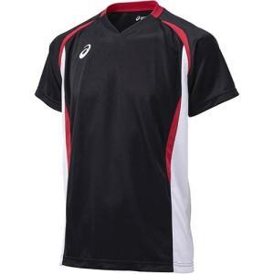 アシックス(asics) ゲームシャツHS XW1325 ブラック×ホワイト バレーボール ジュニア トレーニングウェア 半袖|esports