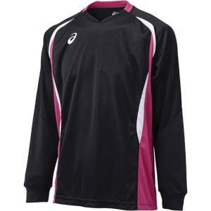アシックス(asics) ゲームシャツLS XW1326 ブラック×ベリー バレーボール トレーニングウェア 長袖|esports