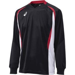 アシックス(asics) ゲームシャツLS XW1326 ブラック×ホワイト バレーボール トレーニングウェア 長袖|esports