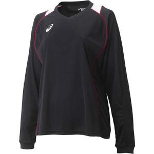 アシックス(asics) W'SプラシャツLS XW6419 ブラック×Vレッド バレーボール レディース トレーニングウェア 長袖|esports