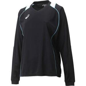 アシックス(asics) W'SプラシャツLS XW6419 ブラック×ブルー バレーボール レディース トレーニングウェア 長袖|esports