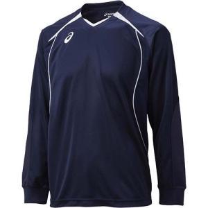 アシックス(asics) プラシャツLS XW6607 ネイビー×ホワイト バレーボール トレーニングウェア 長袖|esports