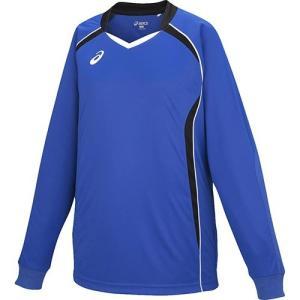 アシックス(asics) ゲームシャツHS ジュニア XW1320 ブルー×ブラック バレーボール トレーニングウェア プラシャツ|esports