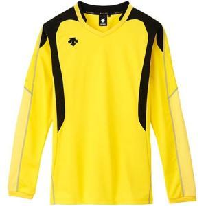 デサント(DESCENTE) 長袖ゲームシャツ DSS-4610 YEL バレーボール トレーニングウェア ロンT プラシャツ|esports