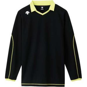 デサント(DESCENTE) 長袖ライトゲームシャツ DSS-5610 BLK バレーボール トレーニングウェア プラシャツ|esports