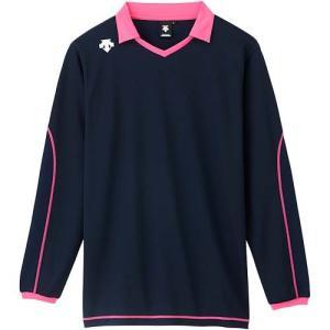 デサント(DESCENTE) 長袖ライトゲームシャツ DSS-5610 NVY バレーボール トレーニングウェア プラシャツ|esports