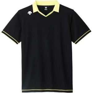 デサント(DESCENTE) 半袖ライトゲームシャツ DSS-5620 BLK バレーボール トレーニングウェア プラシャツ|esports