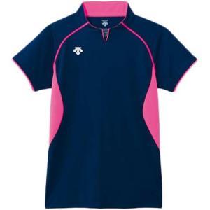 デサント(DESCENT) 半袖ゲームシャツ DSS-4420 NVY バレーボール ウェア ユニフォーム 男女兼用|esports