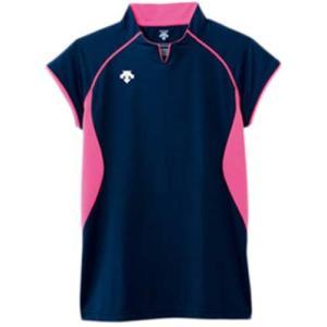 デサント(DESCENT) F/S ゲームシャツ DSS-4430 NVY バレーボール ウェア ユニフォーム 男女兼用|esports