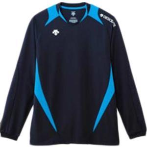 デサント(DESCENT) 長袖ゲームシャツ DSS-5410 NVY バレーボール ウェア ユニフォーム 男女兼用|esports
