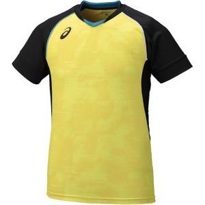 アシックス(asics) ブレードゲームシャツ HS ブレイジングイエロ-×ブラック XW6722 0390 バレーボール バレーウェア 半袖 練習着|esports