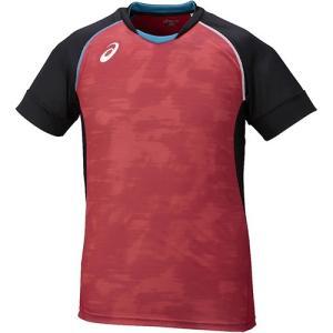 アシックス(asics) ブレードゲームシャツ HS Vレッド×ブラック XW6722 2490 バレーボール バレーウェア 半袖 練習着|esports