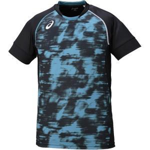 アシックス(asics) ブレードゲームシャツ HS ブラック XW6722 90 バレーボール バレーウェア 半袖 練習着|esports