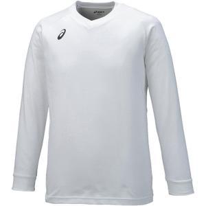 アシックス(asics) プラクティスシャツLS ホワイト×ブラック XW6730 0190 バレーボール バレーウェア 半袖 プラシャツ 練習着|esports