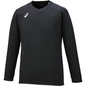 アシックス(asics) プラクティスシャツLS ブラック×ホワイト XW6730 9001 バレーボール バレーウェア 半袖 プラシャツ 練習着|esports