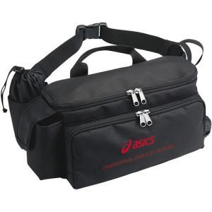 アシックス(acics) トレーナーズウエストバッグ ブラック CP1003 90 バレーボール バッグ 鞄 備品入れ|esports