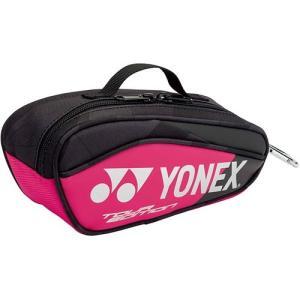 ヨネックス(YONEX) テニス ミニチュアラケットバッグ ブラック/ピンク BAG18MN 181 アクセサリー 小物入れ カラビナ付き キーホルダー
