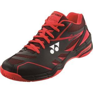 ヨネックス(YONEX) メンズ レディース バドミントンシューズ パワークッション830ミッド ブラック/レッド SHB830MD 187 バドミントン シューズ 靴|esports