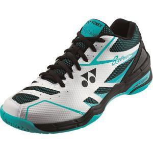ヨネックス(YONEX) メンズ レディース バドミントンシューズ パワークッション830ミッド ホワイト/ミント SHB830MD 551 バドミントン シューズ 靴|esports