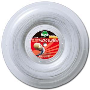 ゴーセン(GOSEN) OGシープ ミクロスーパー16 240M ロール ホワイト(OG SHEEP MICRO SUPER 16) TS4002W 硬式テニス