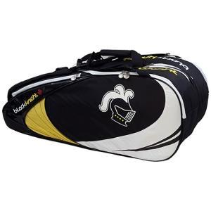 ブラックナイト(Black knight) ラケットバッグ639EXブラックイエロー ブラックイエロー BG-639EX バドミントン スカッシュ 鞄 ラケットバック スポーツバック|esports