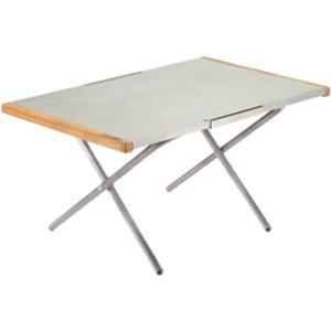 ガンガン使える頼もしいサイドテーブル。熱・キズ・汚れに強く、アウトドアで気になりがちなハードな使い方...