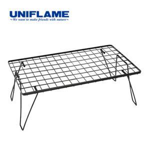 ユニフレーム UNIFLAME キャンプ コンパクト テーブル フィールドラック ブラック 611616 ローテーブル ラック アウトドア 収納